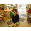 playdough - strengthening our hand muscles