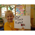 maths - different ways to make 7. We wrote a number sentence
