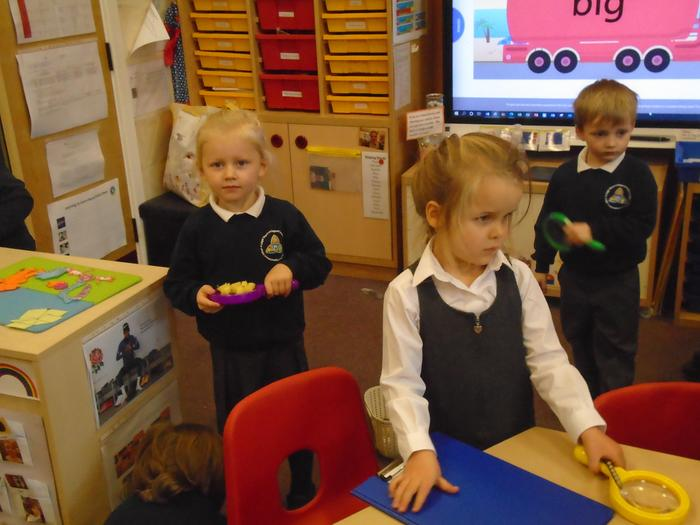 we were detectives looking for the mice that nibbled Kipper's toybox