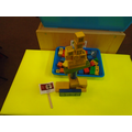 castle building with wooden bricks