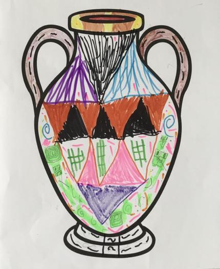 Isabel's Greek vase
