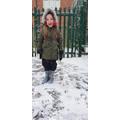 Scarlett having fun in the snow