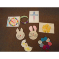 We made lots of easter things