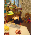 we used time sequencing language and finally we could eat it!