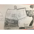 Broken building drawing
