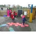 hopscotch - recognising numbers, counting and turn taking