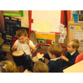 following rhythms and using the djembe drums