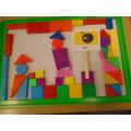 Castle pictures using 2D magnetic shapes