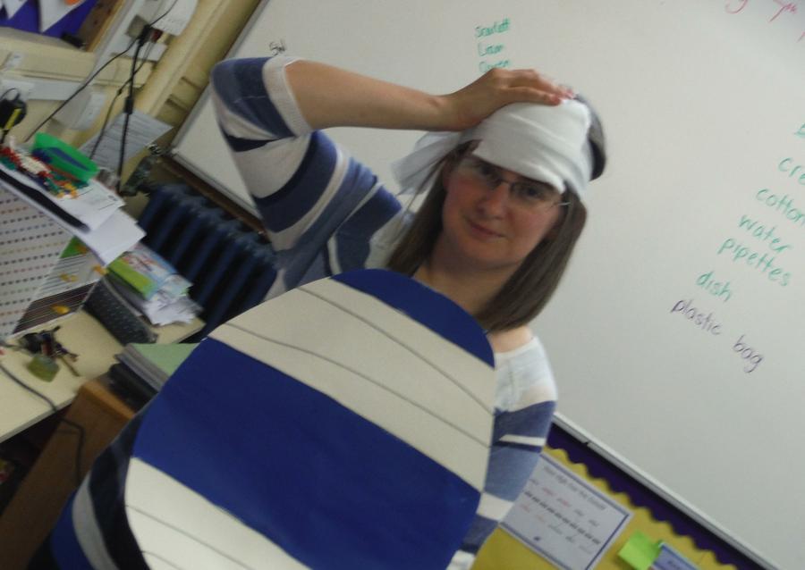 Mrs Bump as our teacher...oh dear!