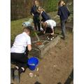 The class 3 Easter garden