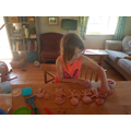 Making a playdough family for this week's project
