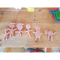 The completed playdough family!