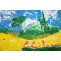 Recreating Van Gogh using melted wax crayons