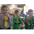 We made book marks of our favourite characters.