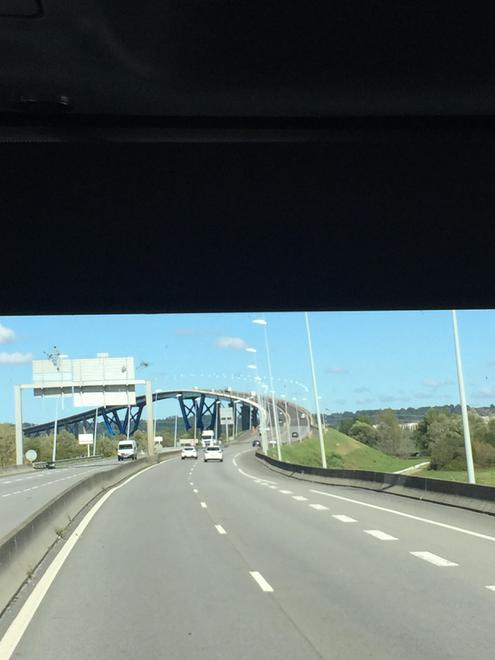 A scary bridge to cross to get us home!