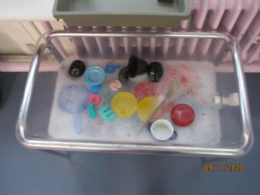 Washing up after our Diwali celebration!