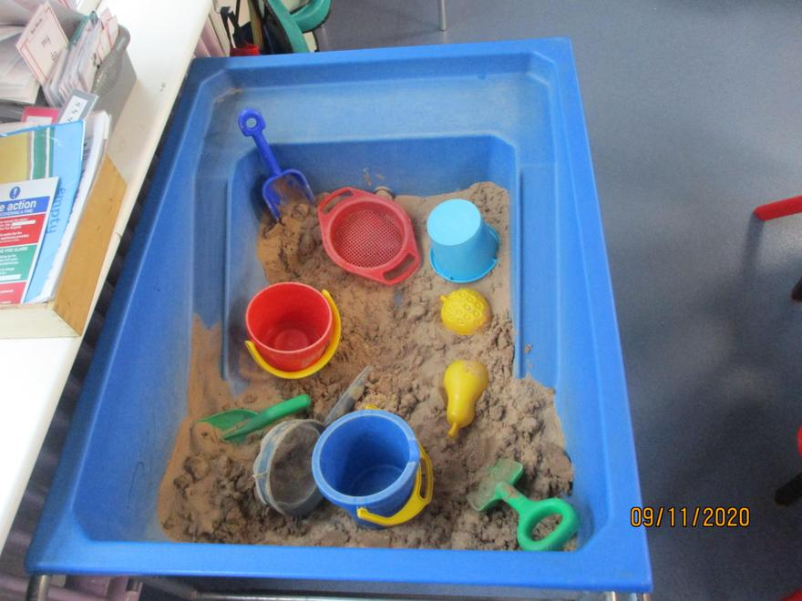 Free play in the sand- can you be creative?