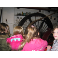 We saw steam power engines working in the factory