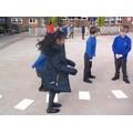 . . . by jumping along and back in 4s!