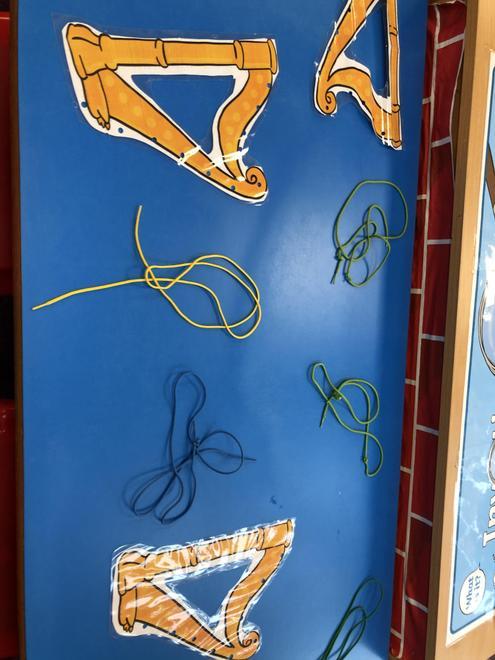 Threading string through the harps!