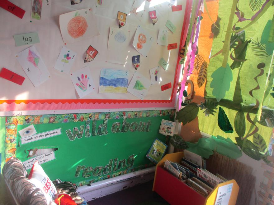 'Wild About Reading' Area