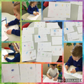Mark-Making- Story maps inspired by the story 'We're Going on a Bear Hunt'.