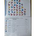Brilliant recording of data using tally marks Shifa