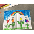 Wonderful colourful picture Lamiyah inspired by Eric Carle