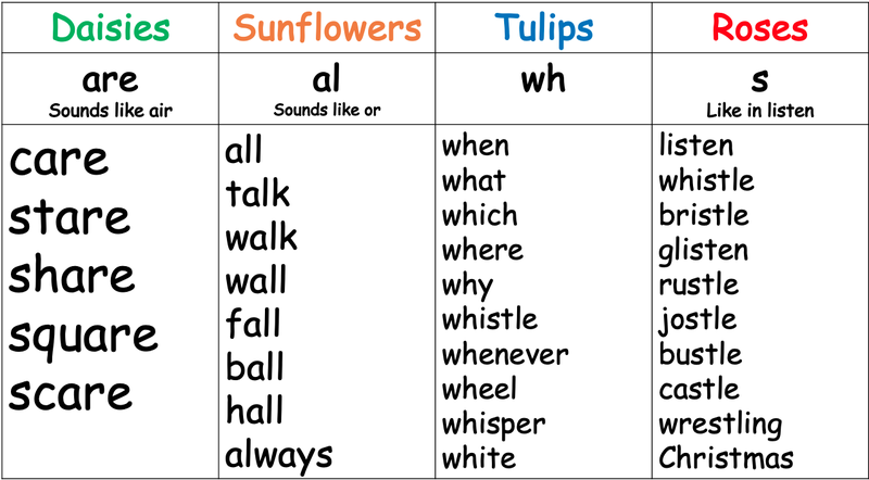 Spellings week beginning 5.7.21