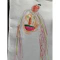 Beautiful portrait Tabitha inspired by Arcimboldo