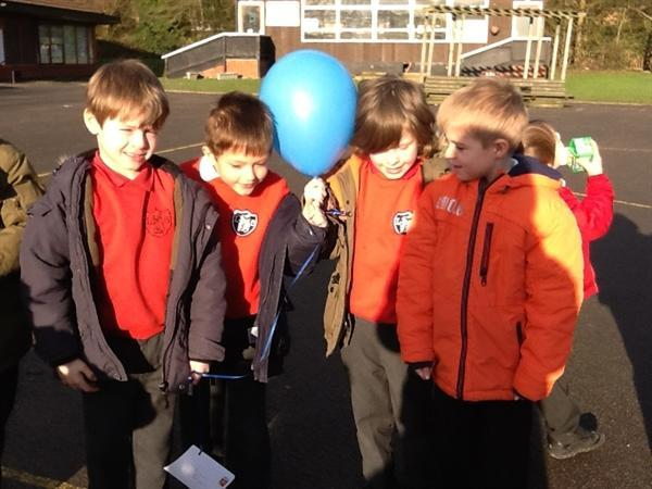We can't wait to see which balloon lands first.