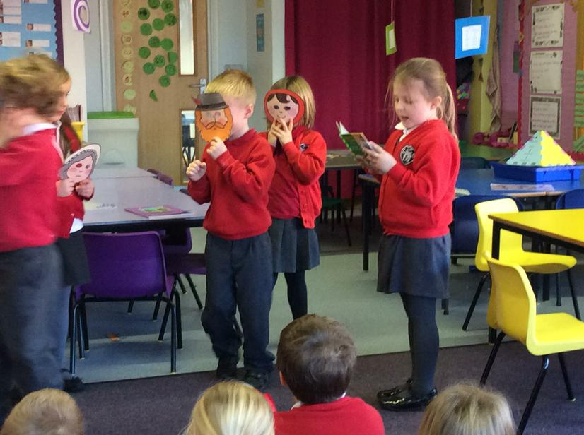 We retold the story of Little Red Riding Hood