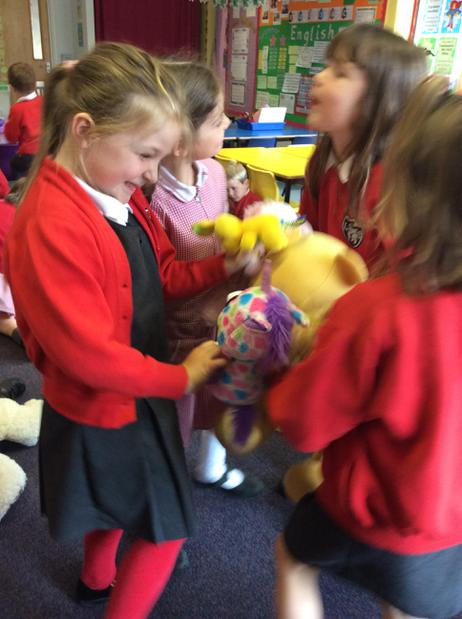 We danced with our teddies!!