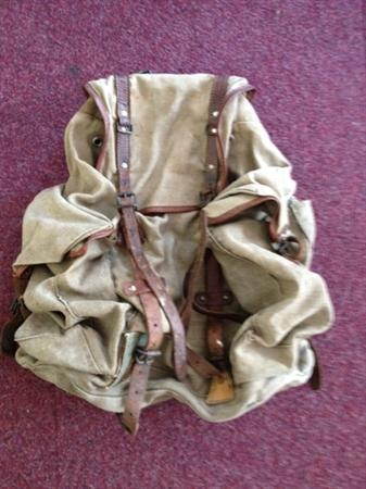 Original WW1 rucksack contributed by Molly