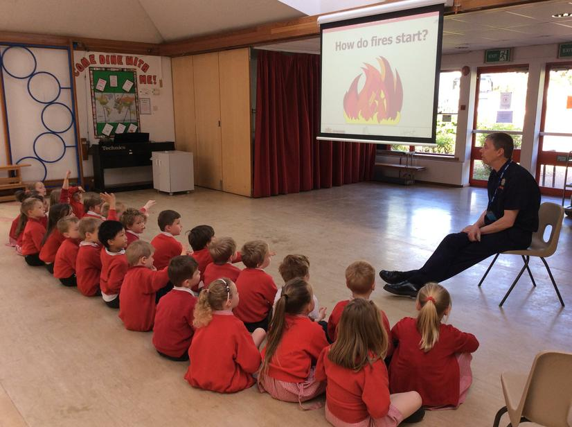 Today Ash Class were visited by a Fireman