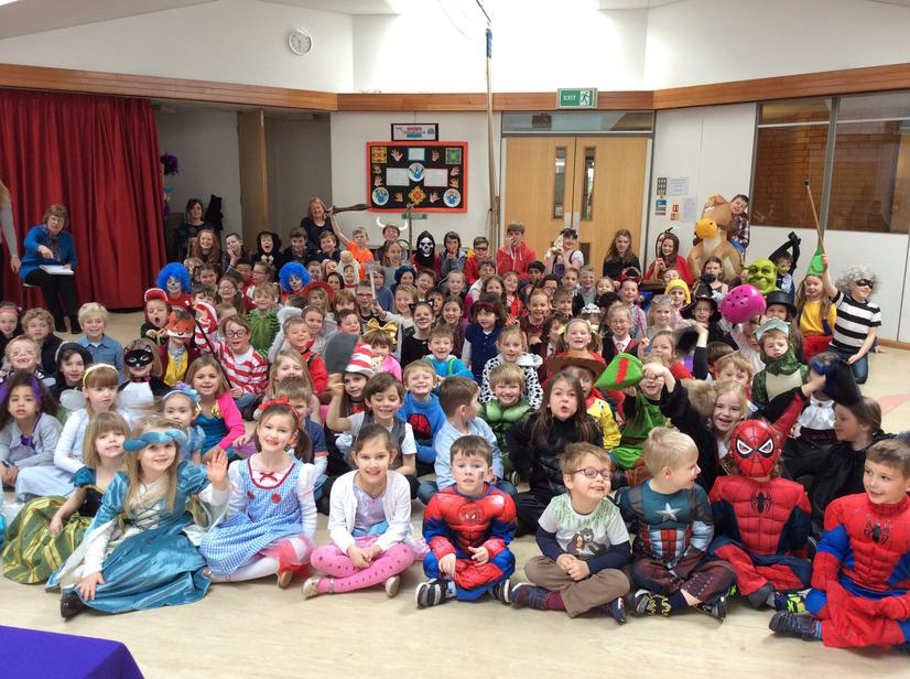 World Book Day Assembly in our fabulous costumes!