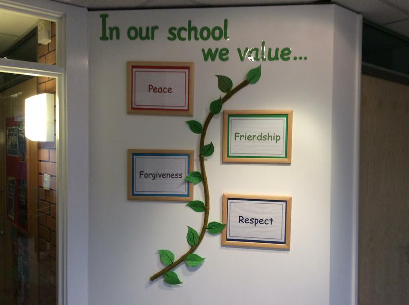 School core values in entrance