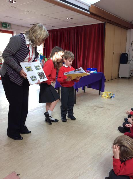 Saffey & Jonathan shared our learning in assembly