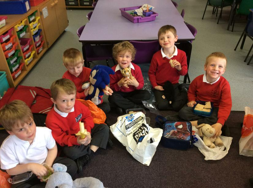 We enjoyed our healthy snacks