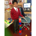 Rocket building with 3D shapes.