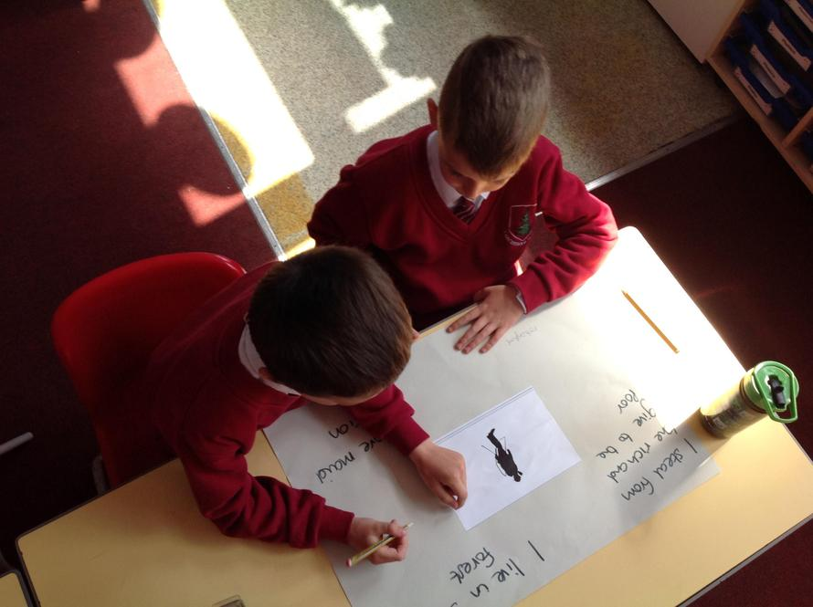 Writing more clues about our characters