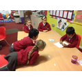 Discussing rhyming words