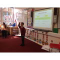 Our guest teacher for our SPaG lesson!