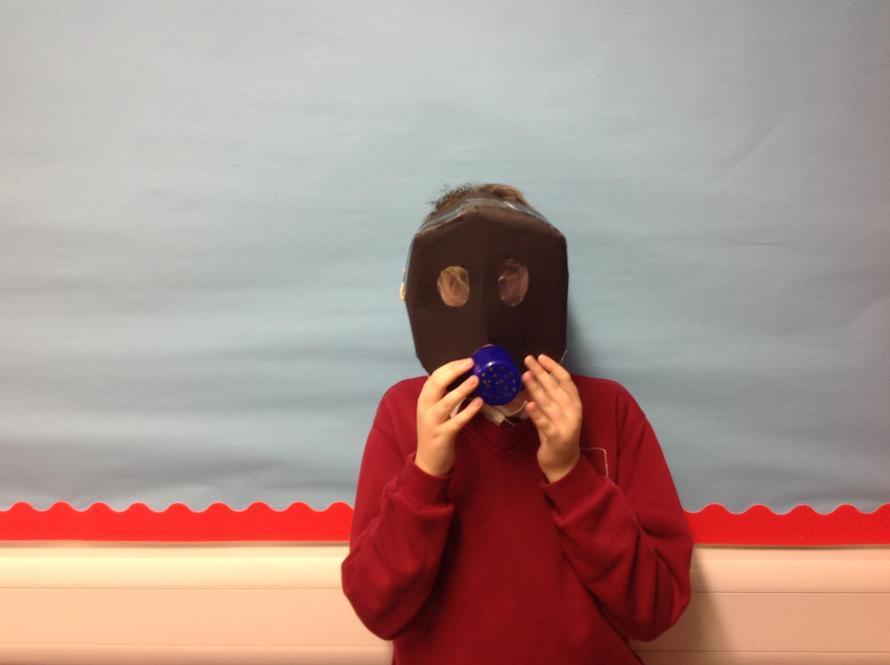 William in his World War 2 gas mask