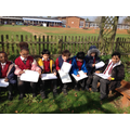 Discovering the outdoor learning garden.