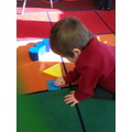 Rocket building with 2D shapes.