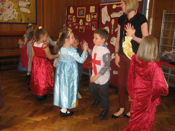 Fun at a medieval banquet
