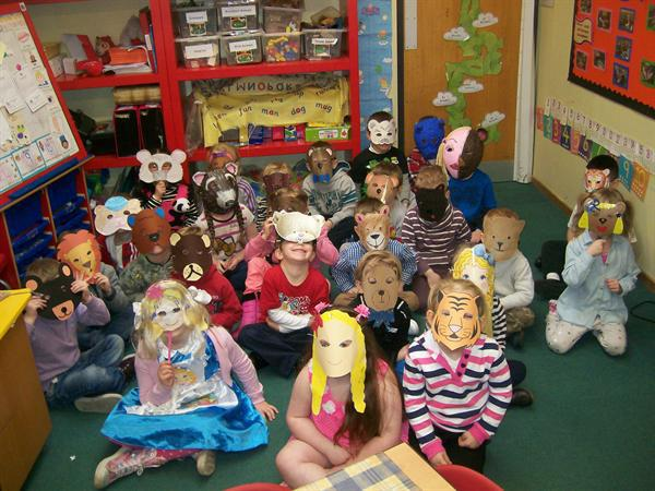 Look at our fabulous masks for World Book Day!