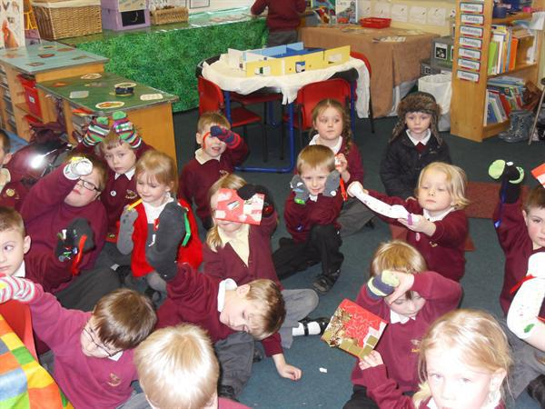 We had lots of fun making our sock puppets.