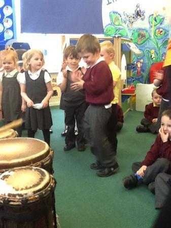 free style dancing - African drumming